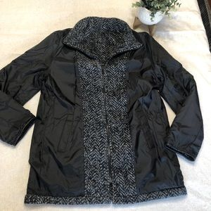 BRAETAN REVERSIBLE coat jacket pattern BlK/blue M